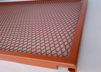 Manor Red Expanded Metal Screen Mesh , Leaf Stopper Plain Expanded Metal Sheet