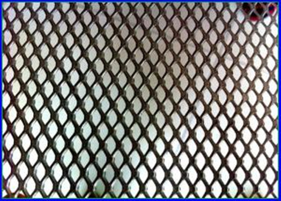 5 X 5mm Diamond Aluminum Expanded Metal Mesh 18 - 50 Meter Long Customized Color